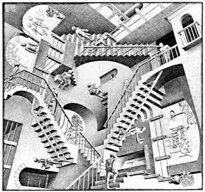 """Relativity"" by M.C.Esher"
