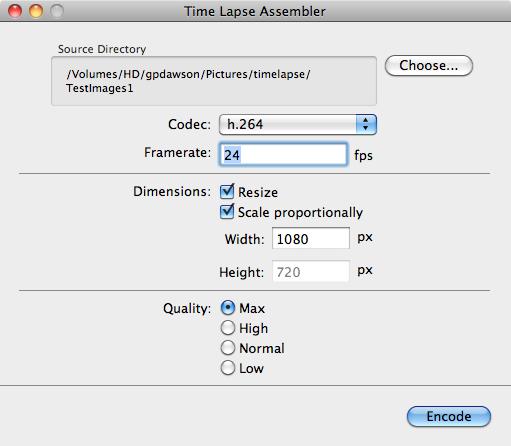 time lapse assembler mac
